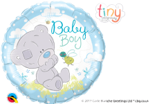'Baby Boy' Tiny Tatty Teddy Foil Balloon